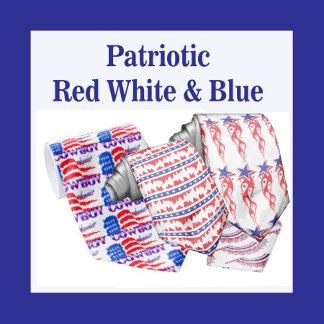 Patriotic Red White Blue