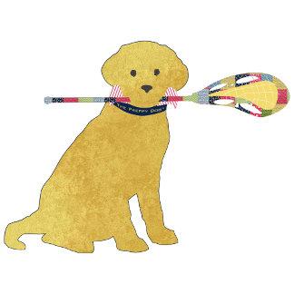 Preppy Golden Lacrosse Dog