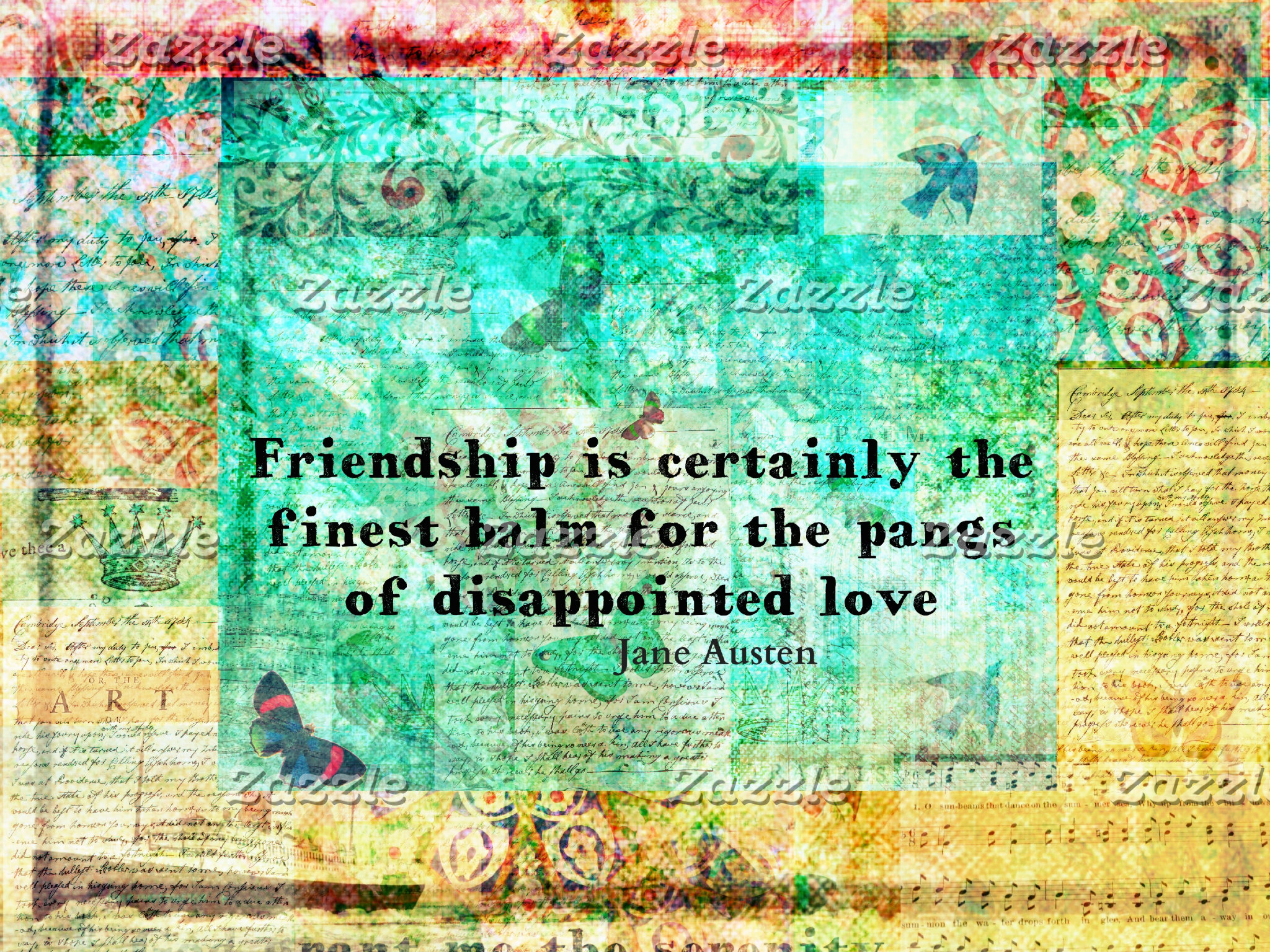 Friendship is certainly the finest balm for the pa