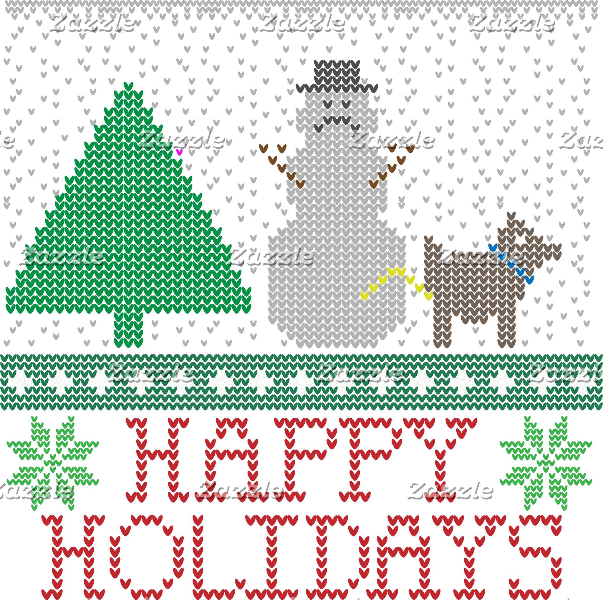 Happy Holidays Funny Dog Peeing Snowman Christmas