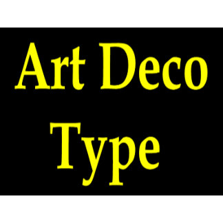 Art Deco Type