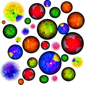 Colorful Leaf Spheres
