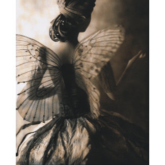 """Fairy Girl with Wings Photo Poster Print"""
