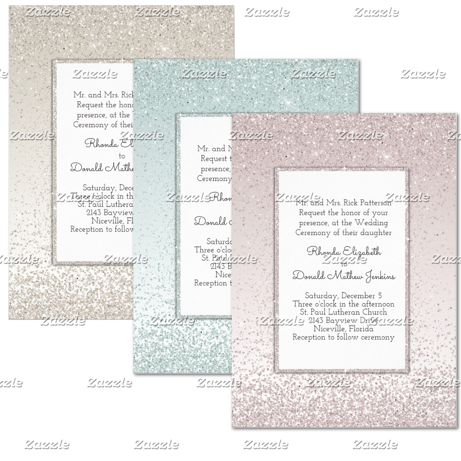 Glitter and Shine Wedding Sets