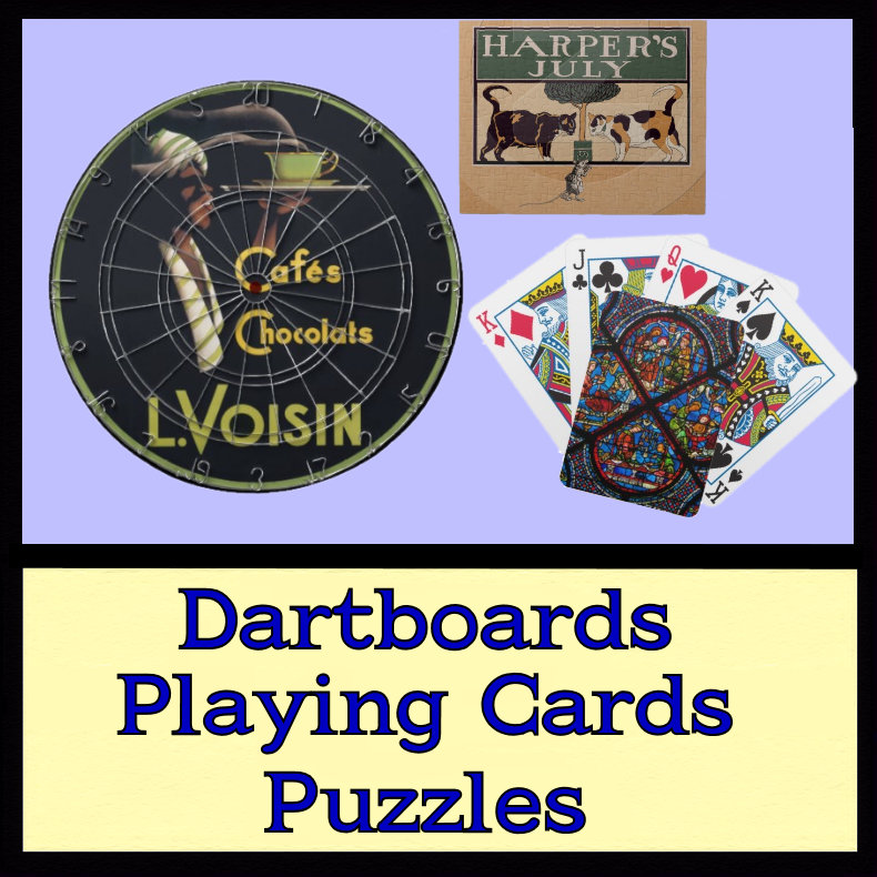 Dartboards Puzzles Cards Poker Chips