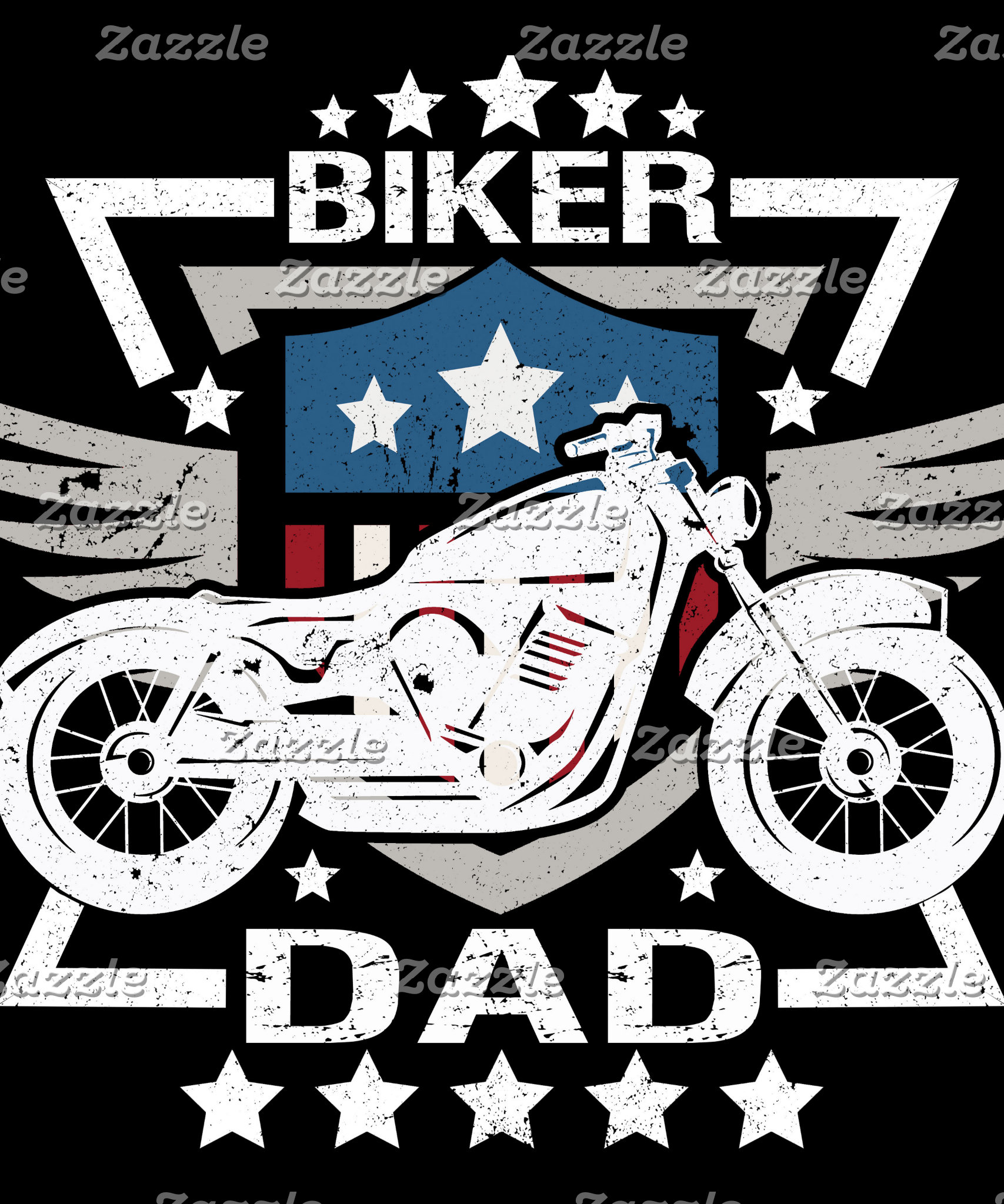 American Flag Biker Dad Wings