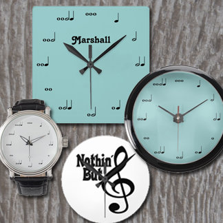 Music Clocks & Watches