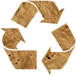 Recycle Sign - Brown