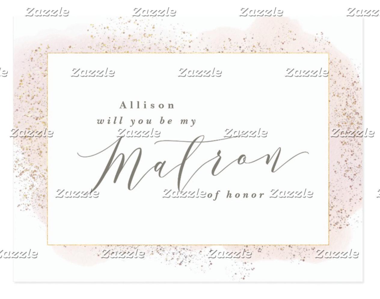 MAID/MATRON OF HONOR, BRIDESMAID