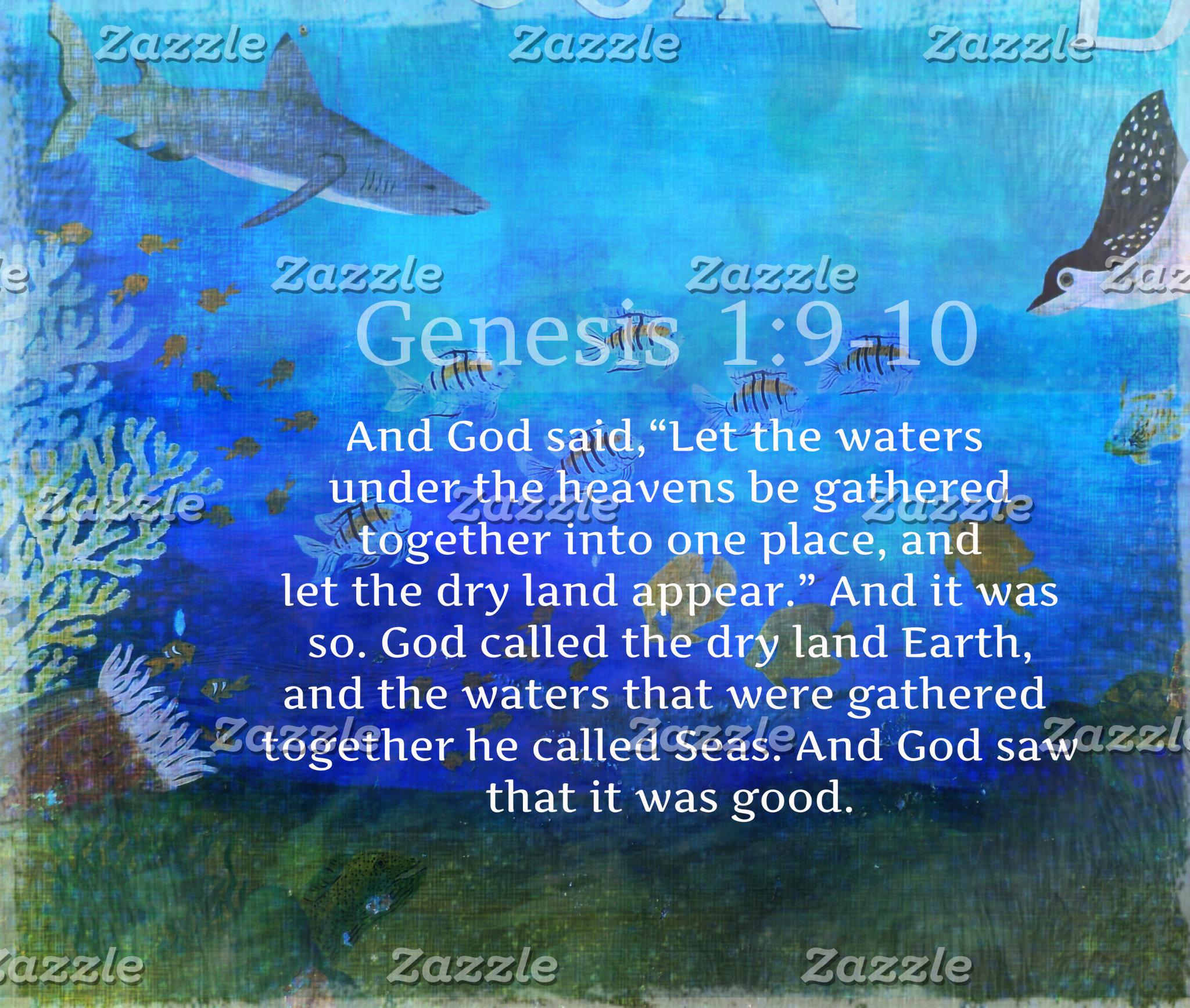 Genesis 1:9-10
