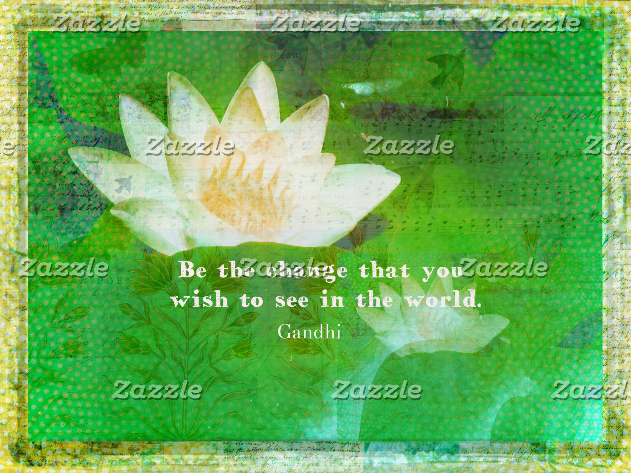 Change Quote WHITE LOTUS FLOWER