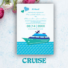 Wedding Cruise Invitations & Save the Date Cards
