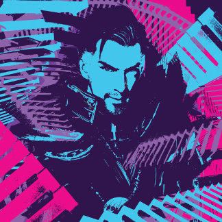 Doctor Strange Painted Stairs Silhouette Graphic