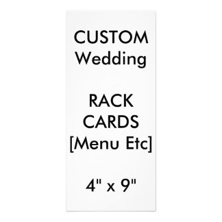 Menus & Programme Rack Cards