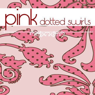 Pink Dotted Swirls