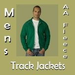 Mens AA Fleece Track Jackets
