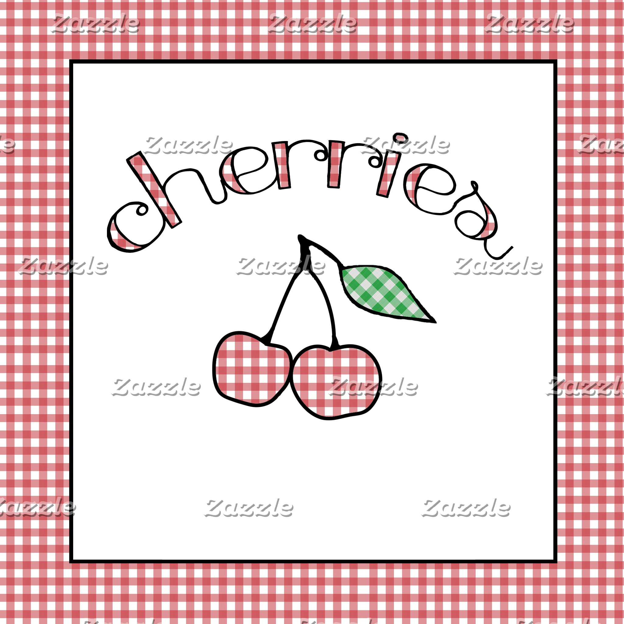 Gingham Cherries