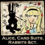 Alice, Wonderland, Rabbits, Card Suits