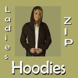 Ladies Zip Hoodies