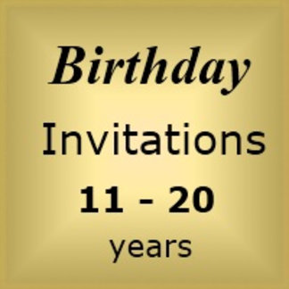 Invites Birthday : Age 11-20