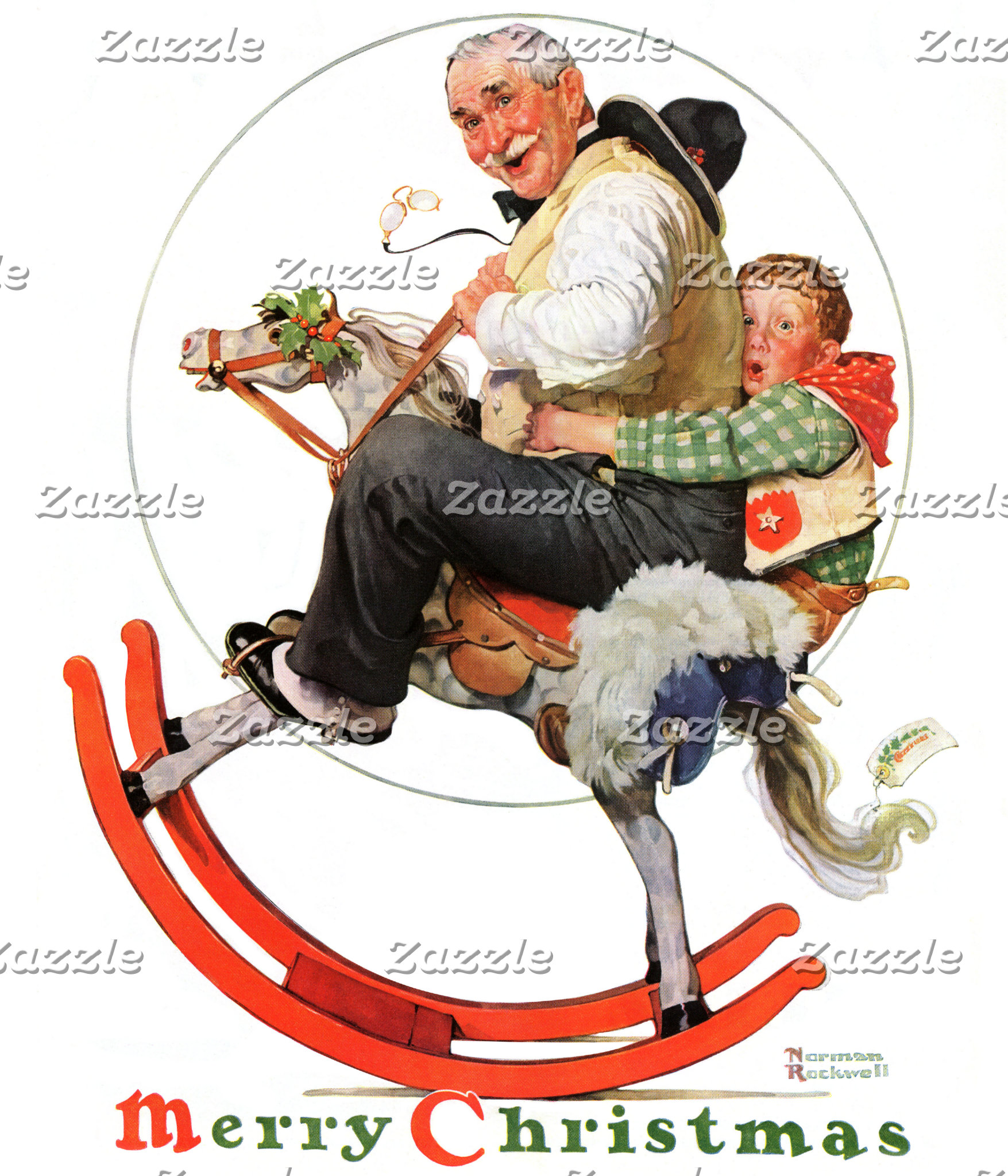Gramps on Rocking Horse