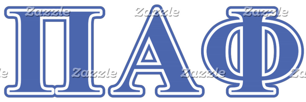 Pi Alpha Phi Blue Letters