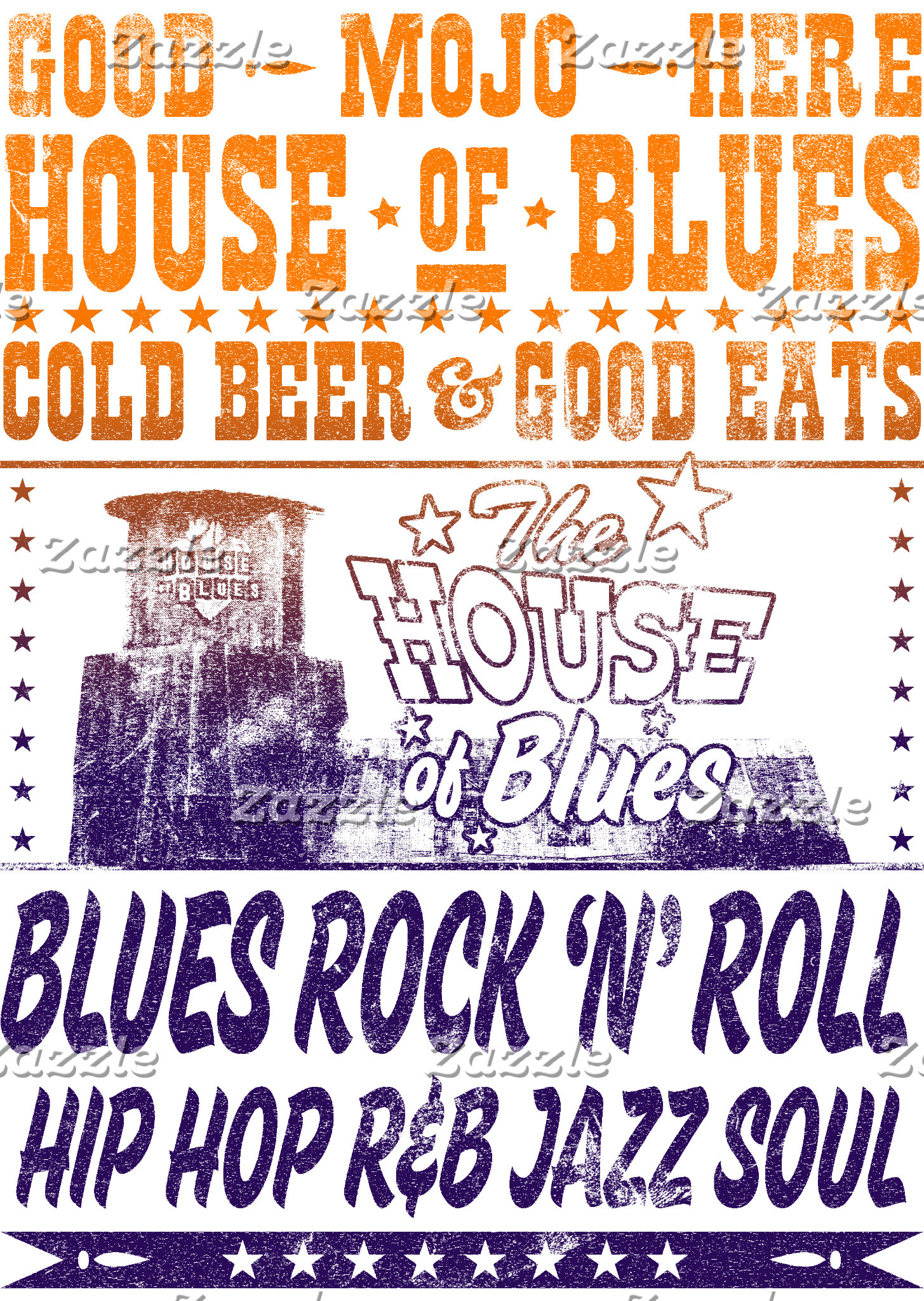 The House of Blues Vintage Poster
