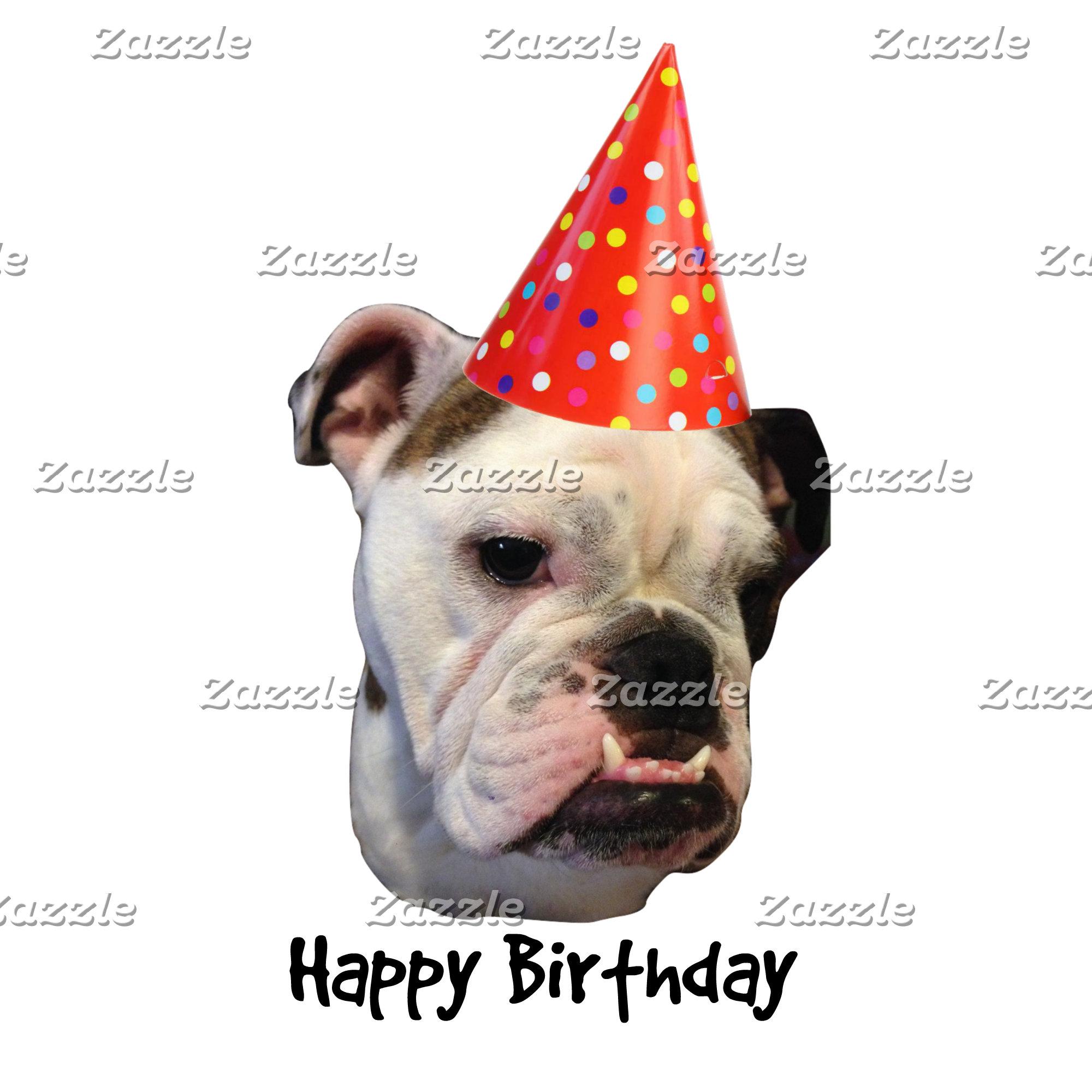English Bulldog Birthday Party Hat
