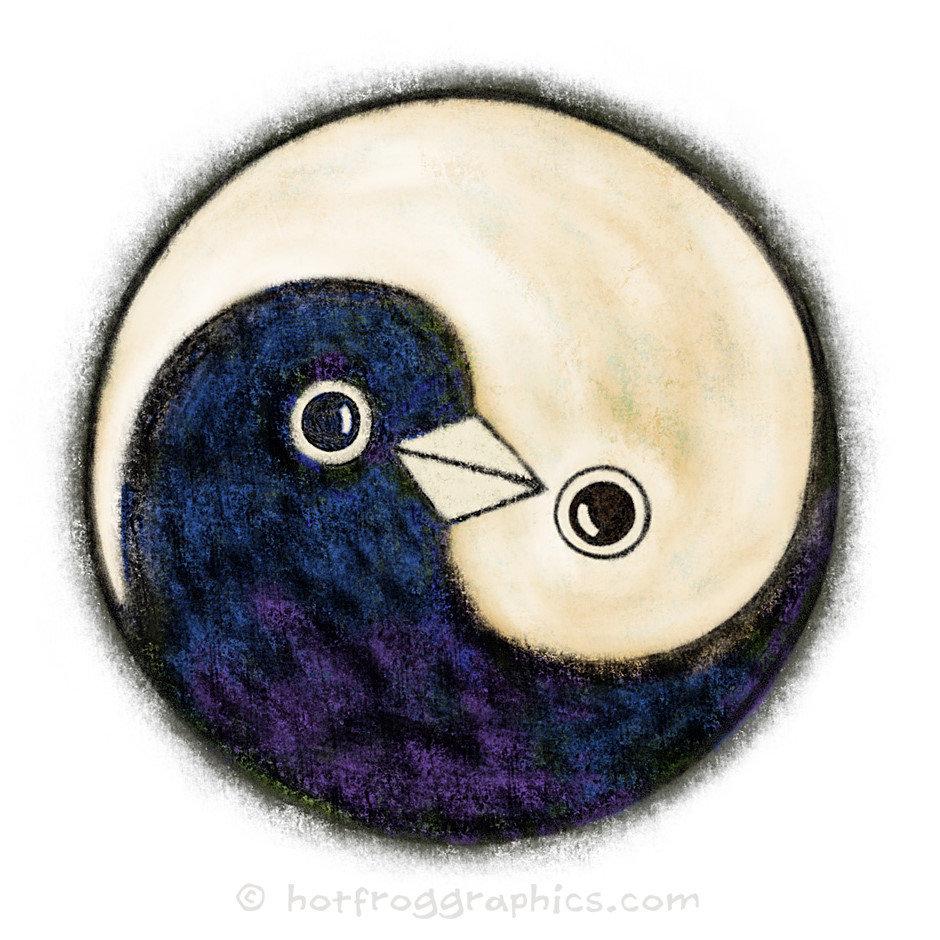 Yin Yang doves of Peace