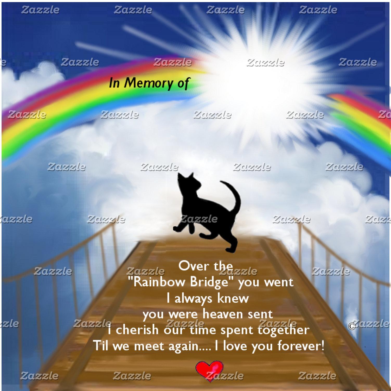 Rainbow Bridge Memorial for Cats