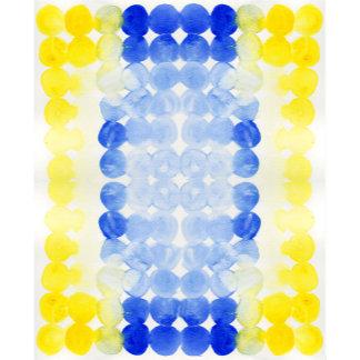 Blue Yellow Watercolor Circles