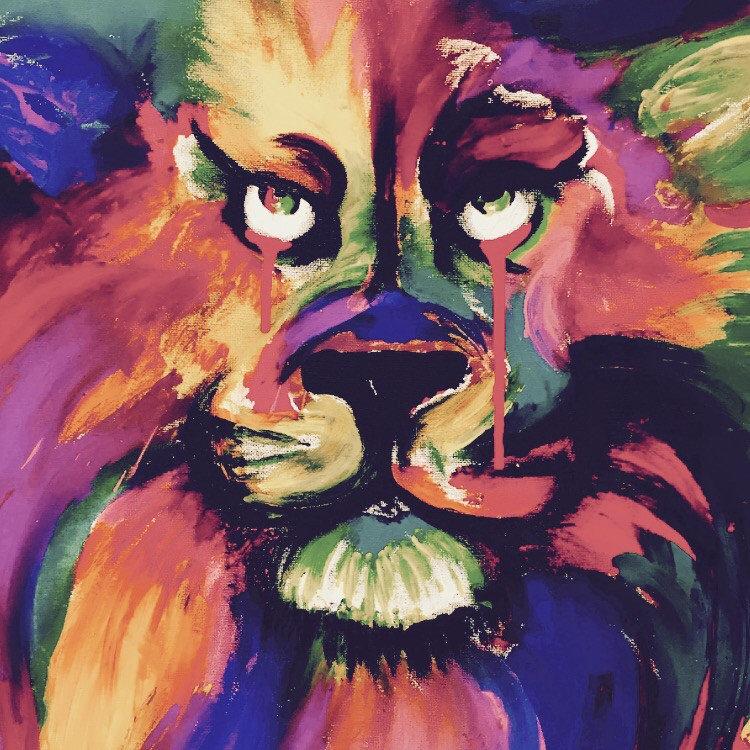 Tattoo ink lion