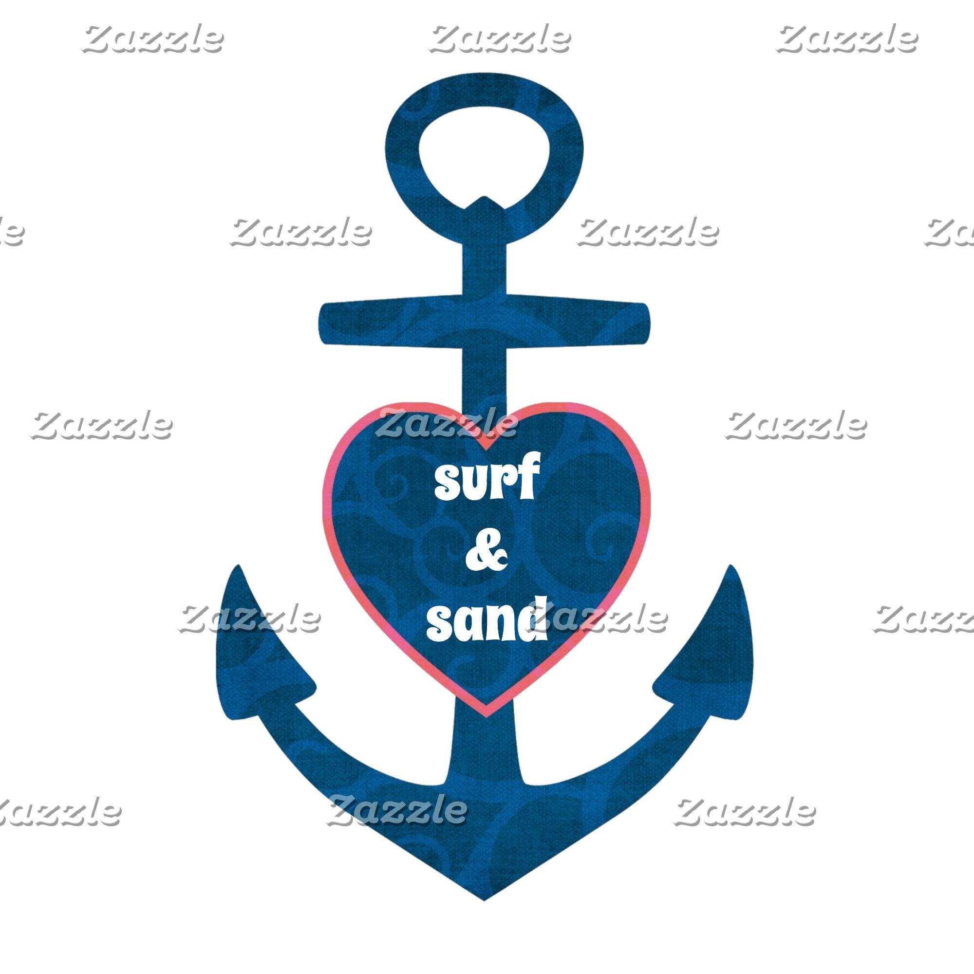 Surf & Sand Heart Anchor