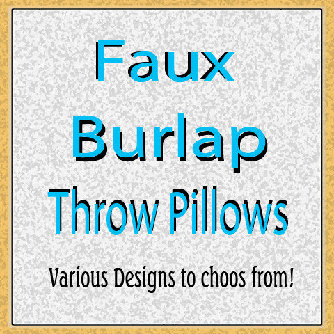 Faux Burlap Design Throw Pillows