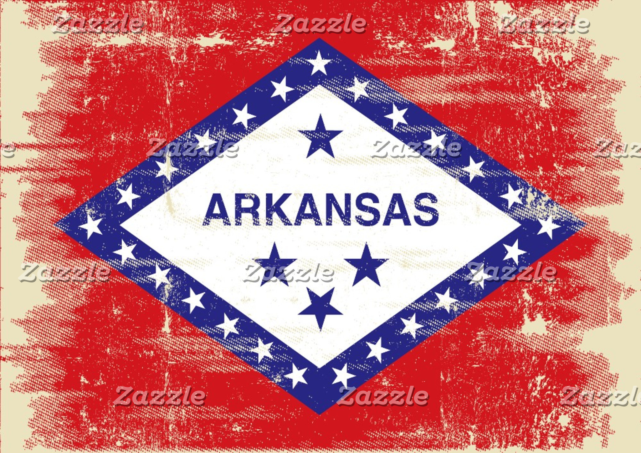 Arkansas grunge Flag