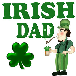 Irish Dad With Green Beer and Pipe