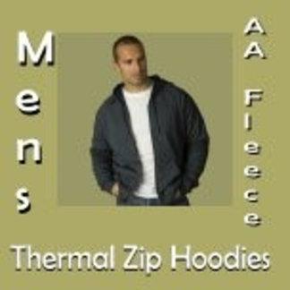 Men's AA Fleece Thermal Zip Hoodies
