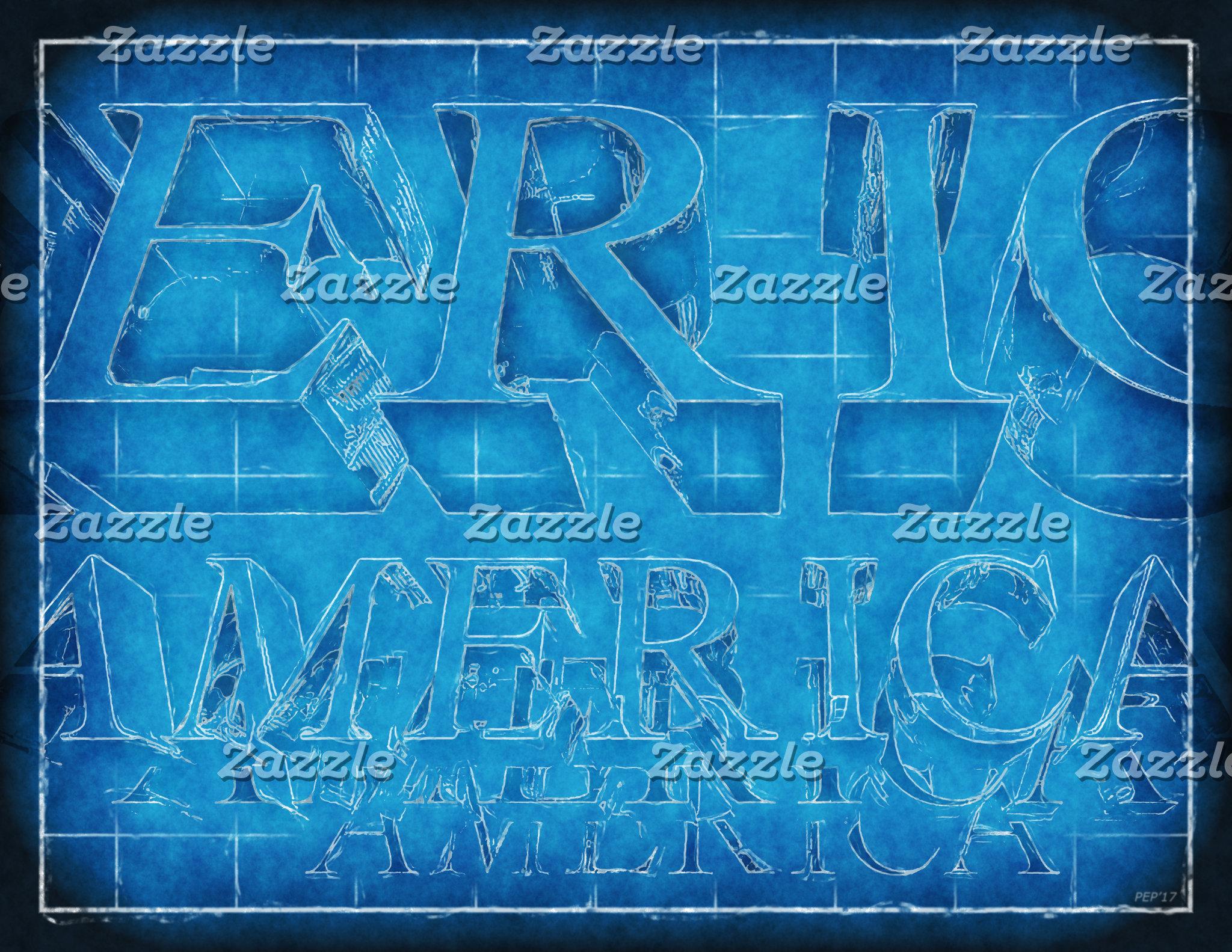 America Typographic Blueprint