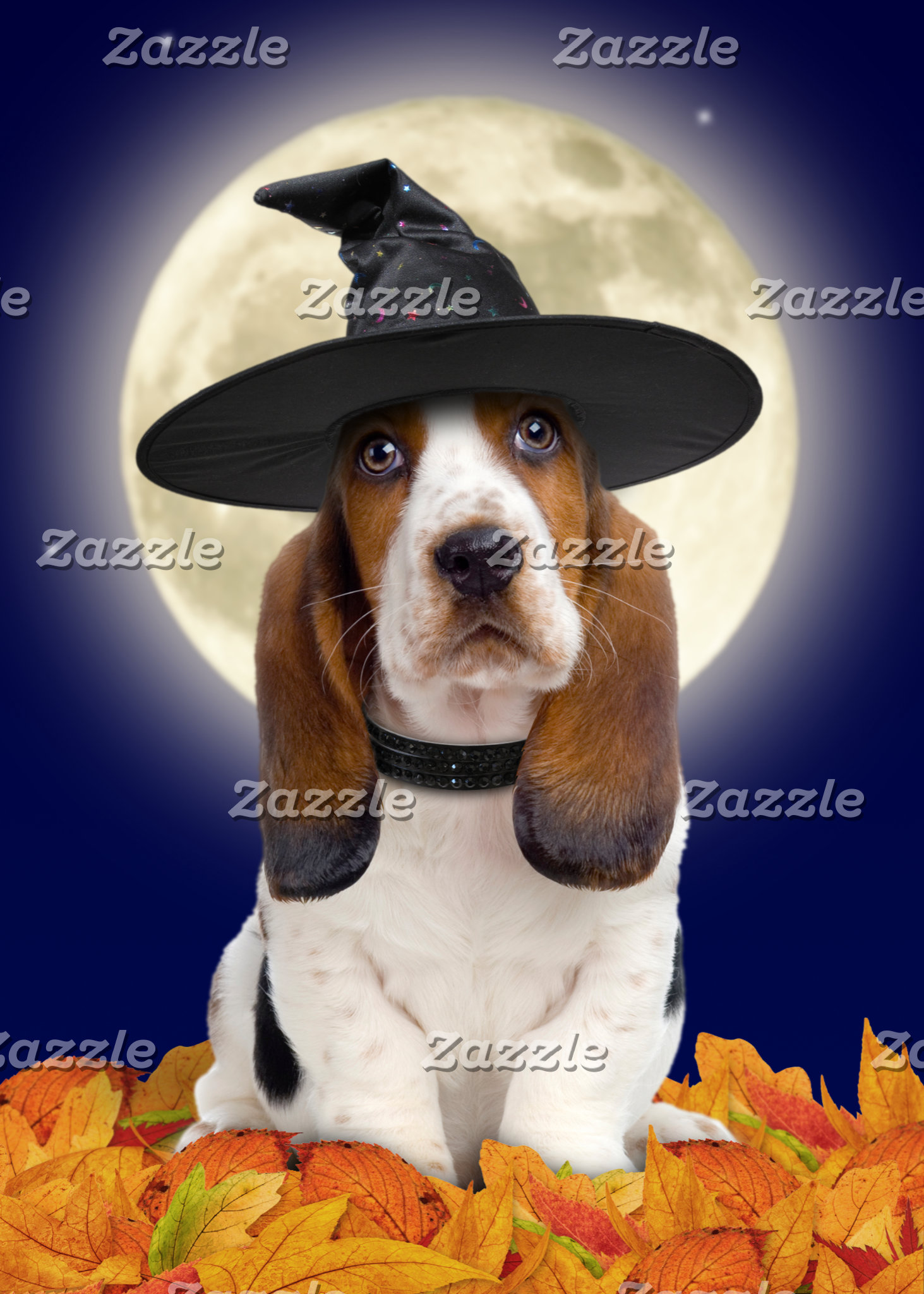 Basset Hound Halloween Cards & Gifts