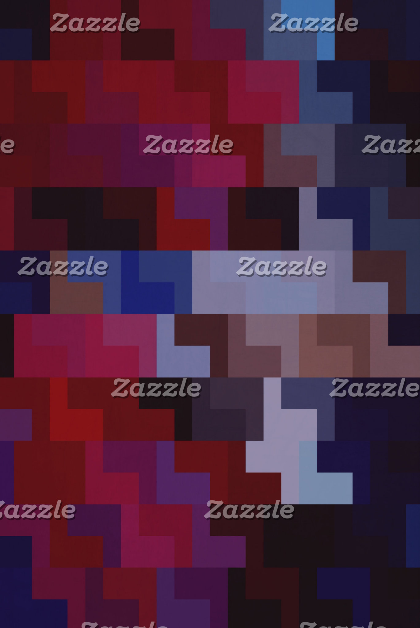 Geometric Abstract Art | Purple and Blue Tiles
