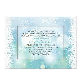 Bokah Snowflakes Winter Wedding Set