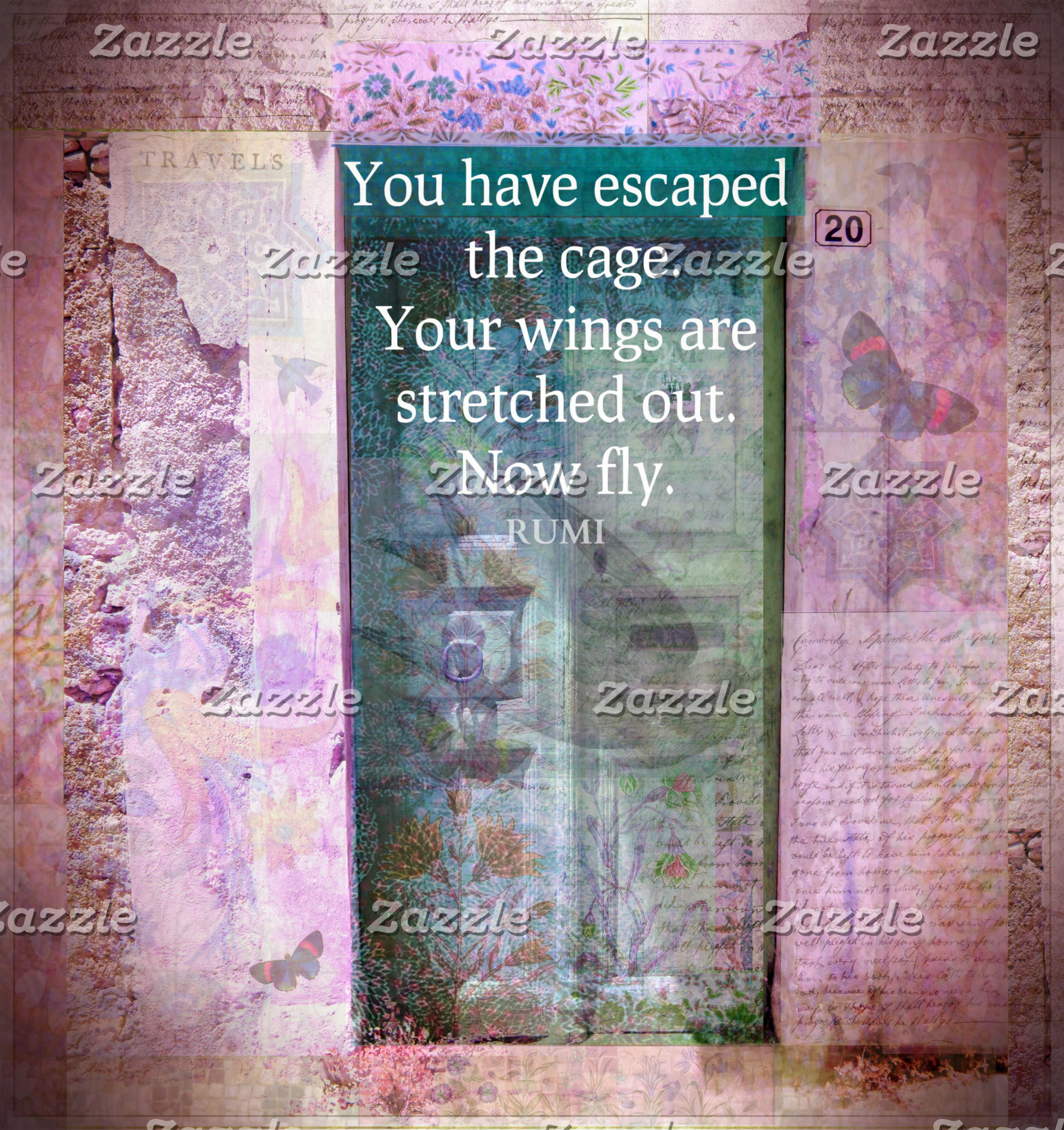 You have escaped the cage. Your wings are....