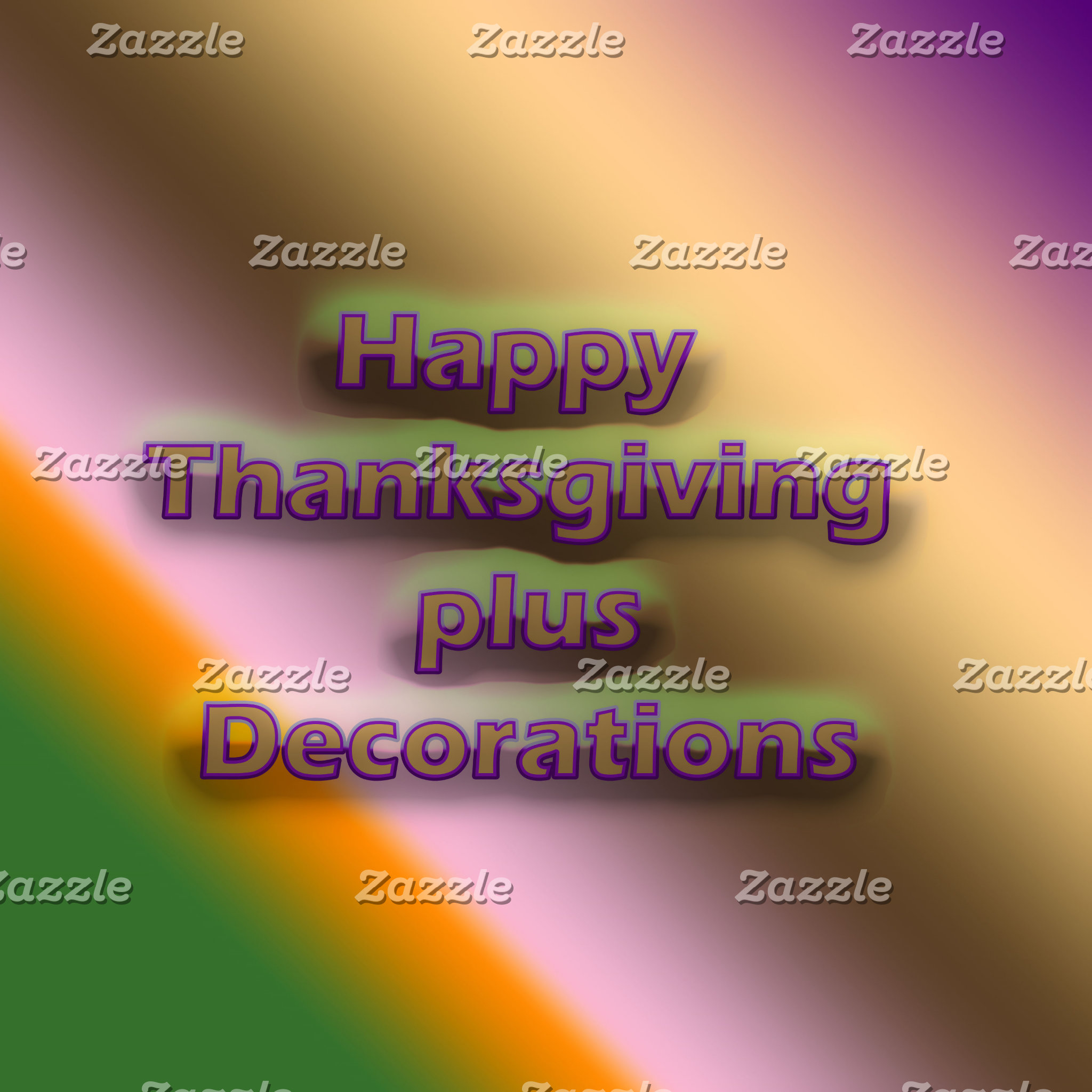 Happy Thanksgiving plus Decorations