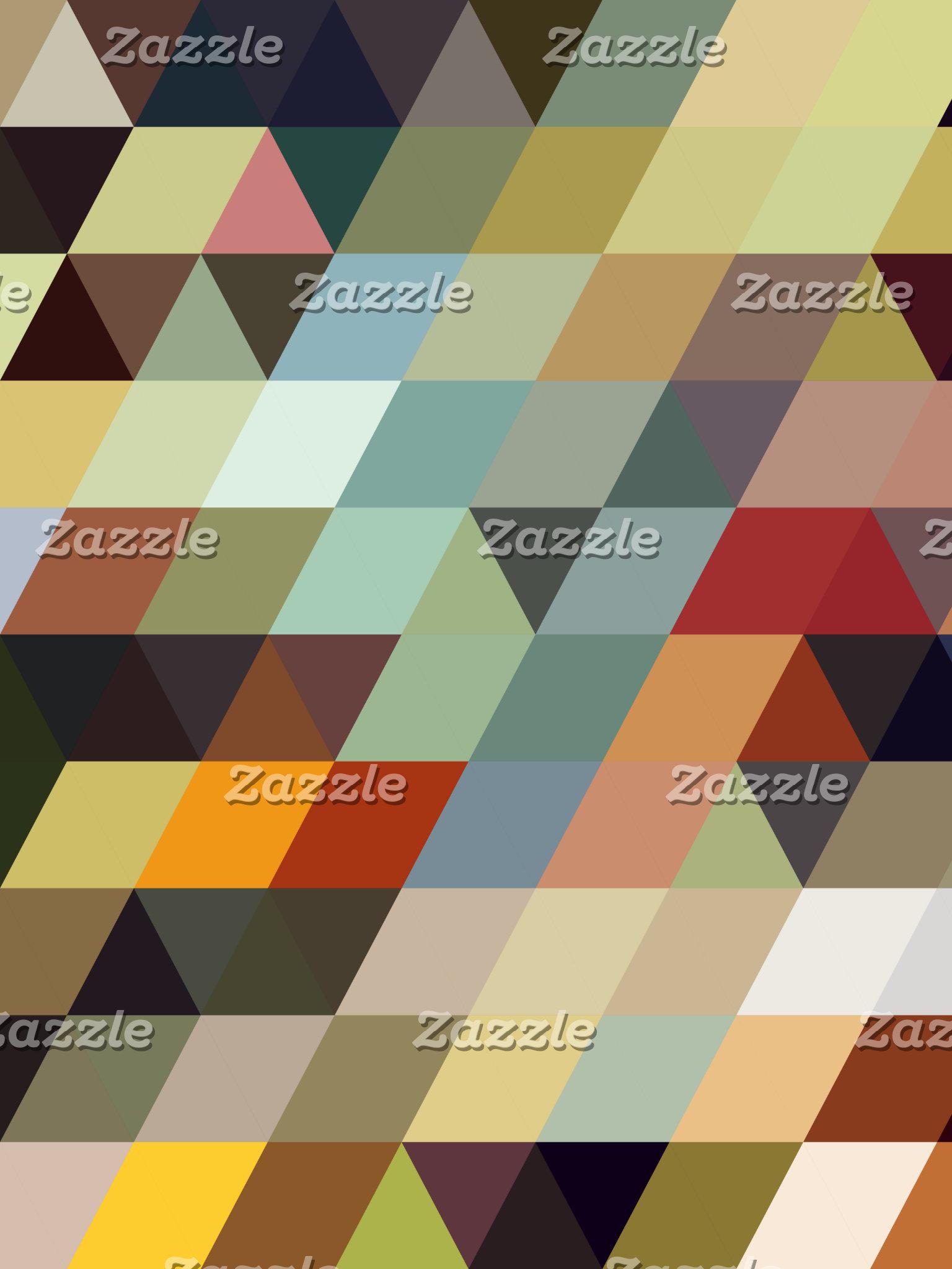 Geometric Patterns | Multicolored Triangles