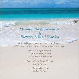 White Beach Wedding