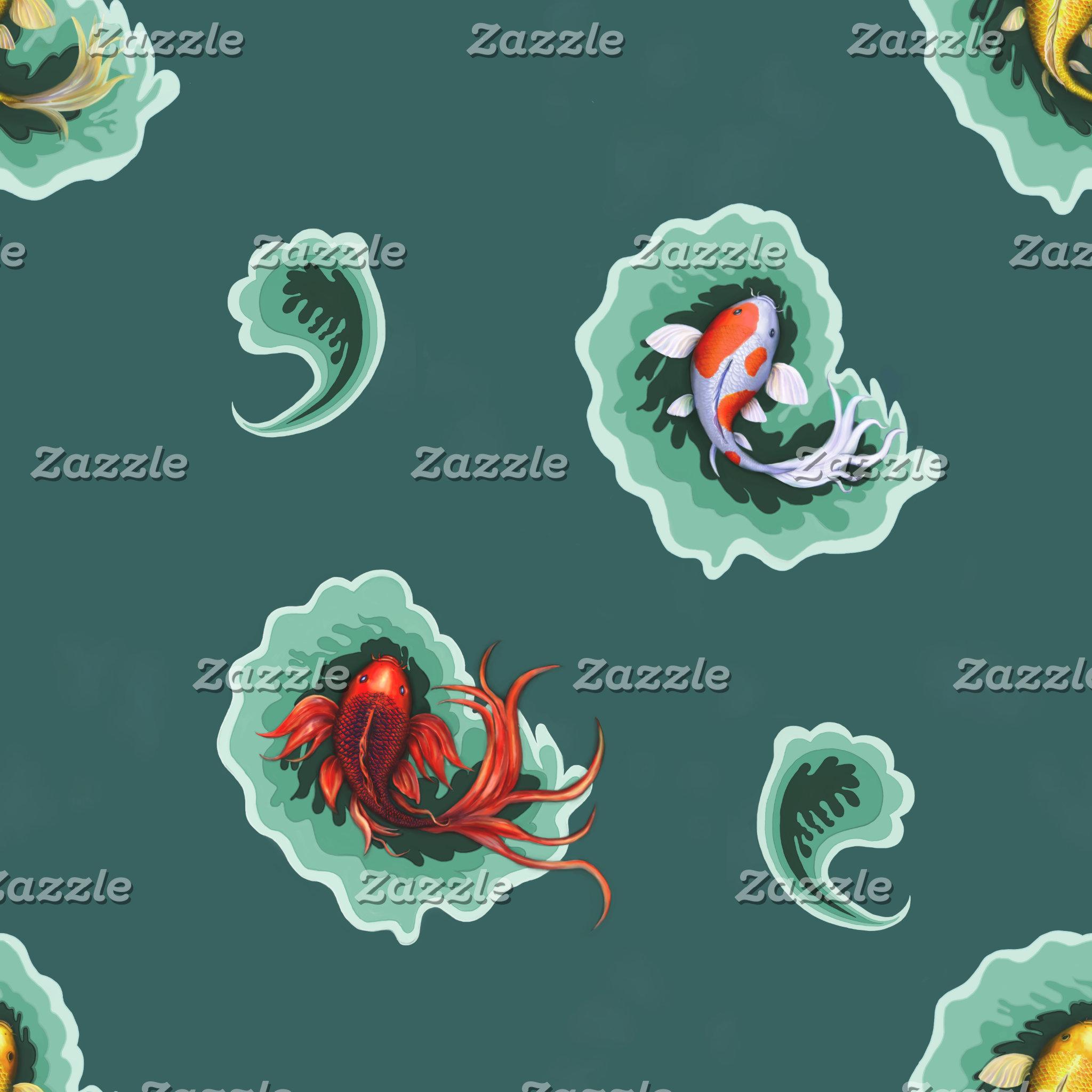 Koi Fish Paisley
