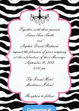 Black Zebra Print and Hot Pink