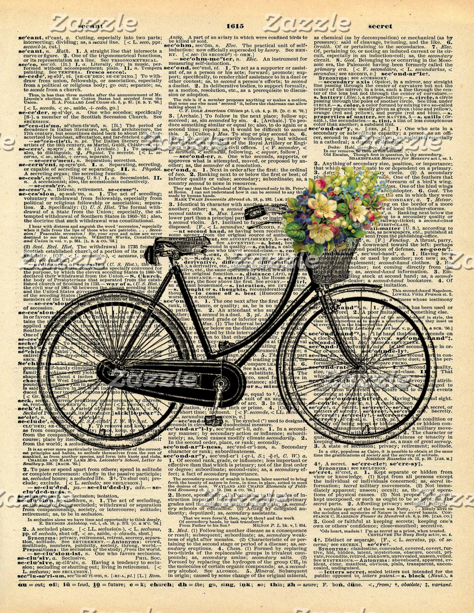 Vintage Dictionary Art