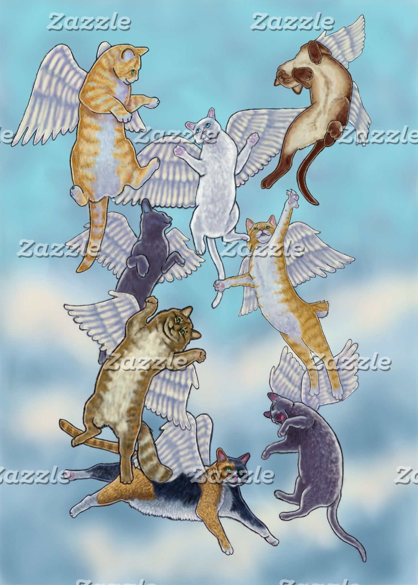 Flock of Angel Cats