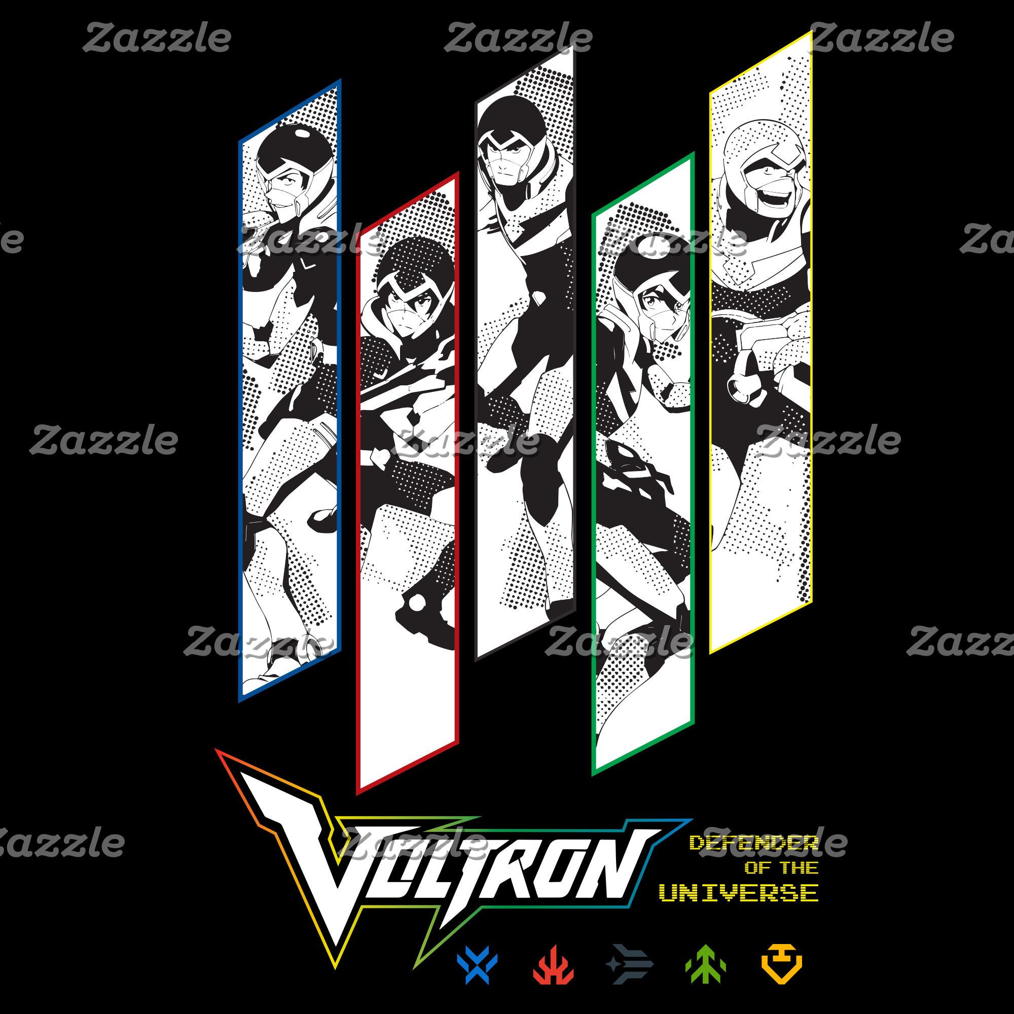 Voltron | Classic Pilots Halftone Panels